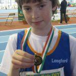 Cian McPhillips Boys Under 12 600 meter National Indoor Champion