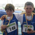 Cian McPhillips and Daire McManus Longford Athletic Club National Indoor medalists