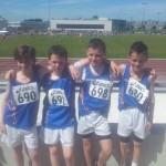 Under 12 Boys  4X100 meters Connaught Silver Medalist 2013