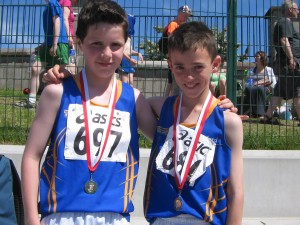 Brendan Finane & Adam Reilly Under 11 Boys Turbo Javelin Gold Medalist Pair