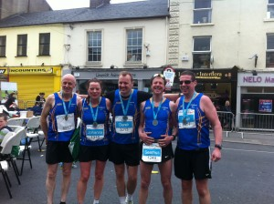 Longford AC Seniors at Limerick Marathon