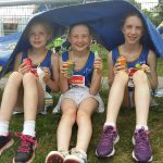 Longford AC Katie, Sian & Jane, 11 June 2016 at Connacht Outdoor T&F, Dangan
