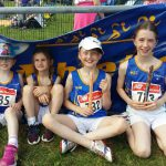 Rachel, Maria,Sian & Jane at Connacht Outdoor T&F, Dangan, 11 June 2016