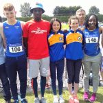 Longford AC group at Tullamore for Day 3 of National Finals, 16 July 2017