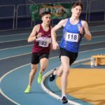 Cian McPhillips competing at National Indoor Arena