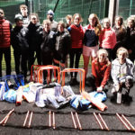 Longford-AC-teenage-group-with-new-equipment,-January-2019