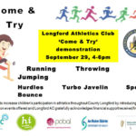 come and try athletics